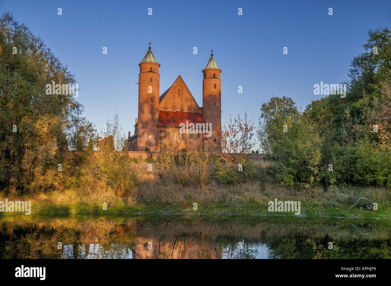Church of Saint Rochas and John the Baptism, the place of Frederic Chopin`s baptism. Brochow, village in Masovia - Stock Image