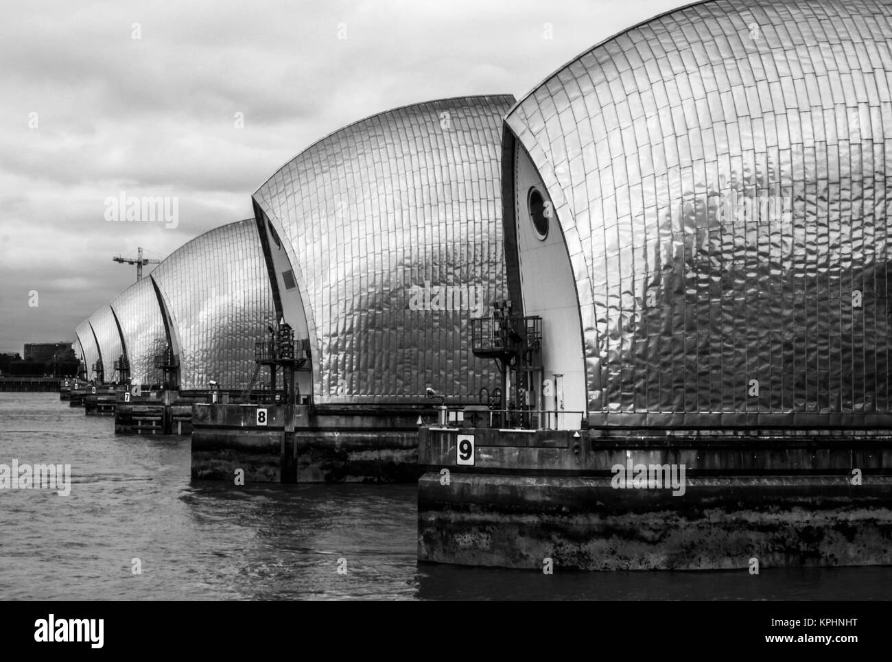 THAMES BARRIER, LONDON, GREAT BRITAIN - Stock Image