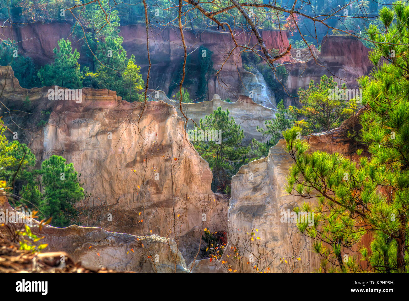 Red clay providence canyon in stock photos red clay providence providence canyon in georgia usa stock image publicscrutiny Image collections