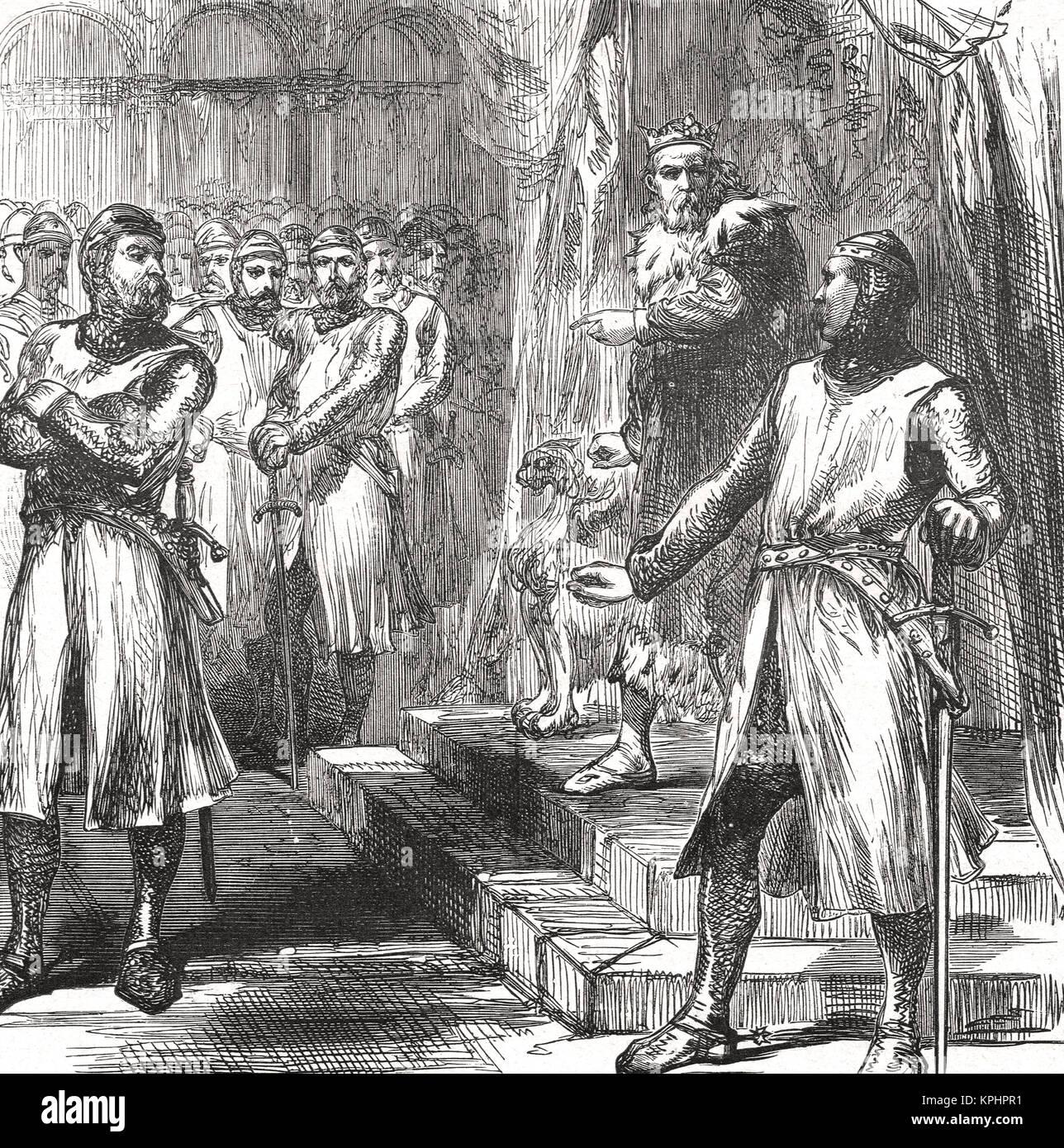 Barons revolt against Edward I, 1297 - Stock Image