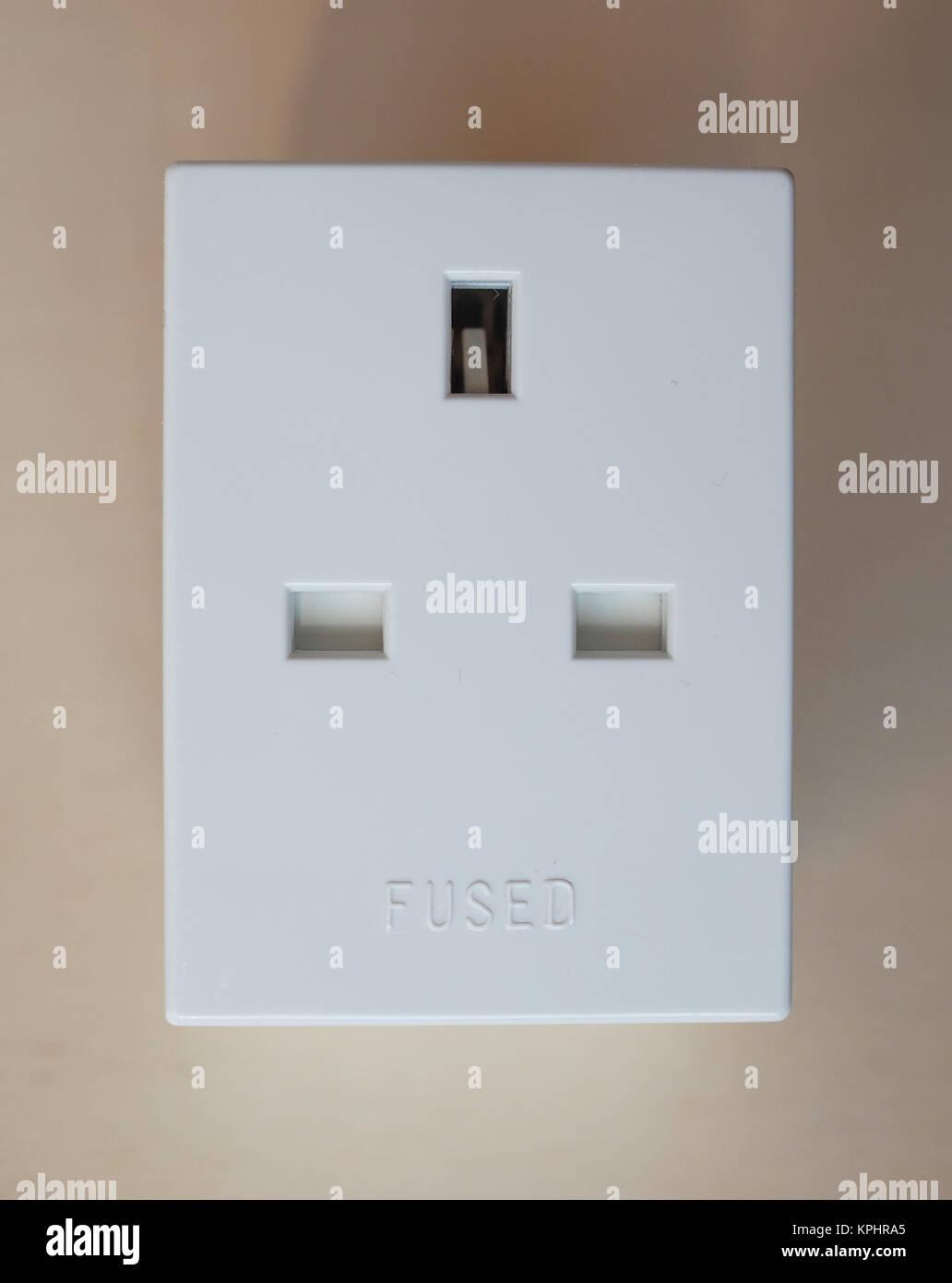 Bs 1363 Wiring Diagram Library Wall Socket Standard British Power Plug Stock Image