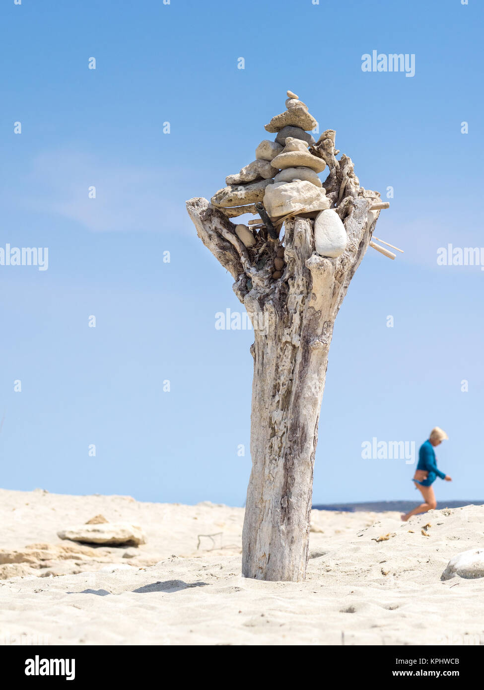 Typical compositions seen in Ses Illetes, Formentera, Spain - Stock Image