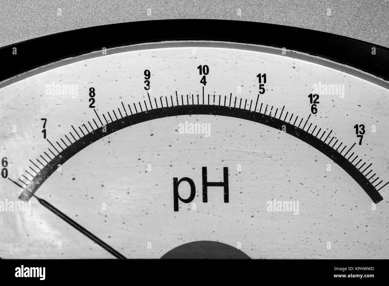 Old vintage PH meter - Stock Image