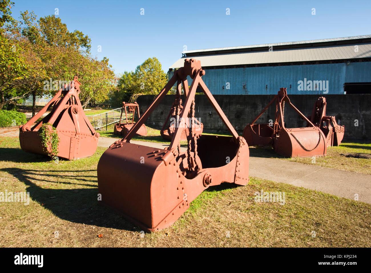 USA, Alabama, Birmingham. Sloss Furnaces National Historic Landmark, late 19th to mid 20th century blast furnace, - Stock Image