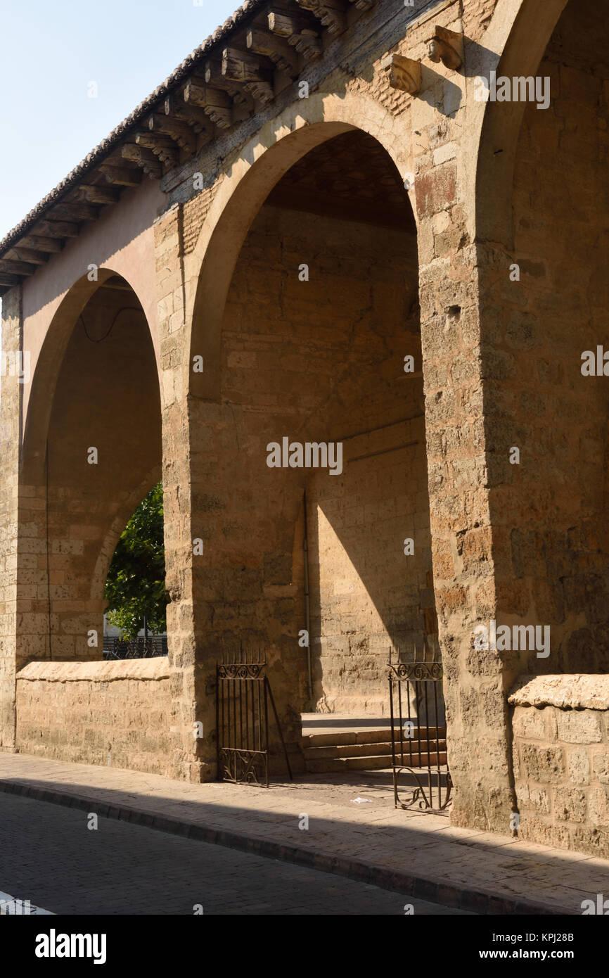 entrance of Santa Maria, Carrion de los Condes, Palencia province,Spain - Stock Image