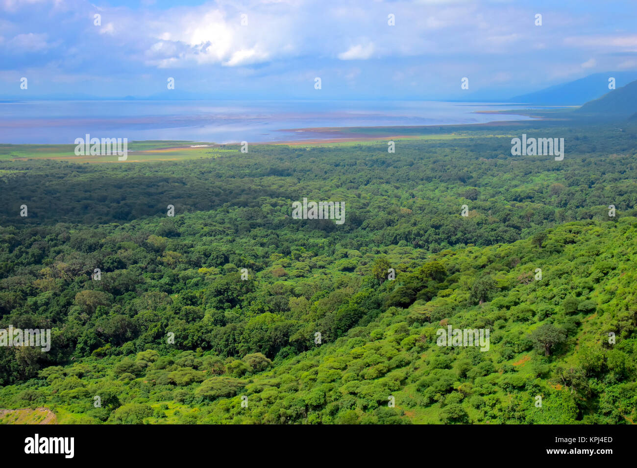Lake Manyara National park in Mto wa Mbu in the rift valley, Tanzania - Stock Image