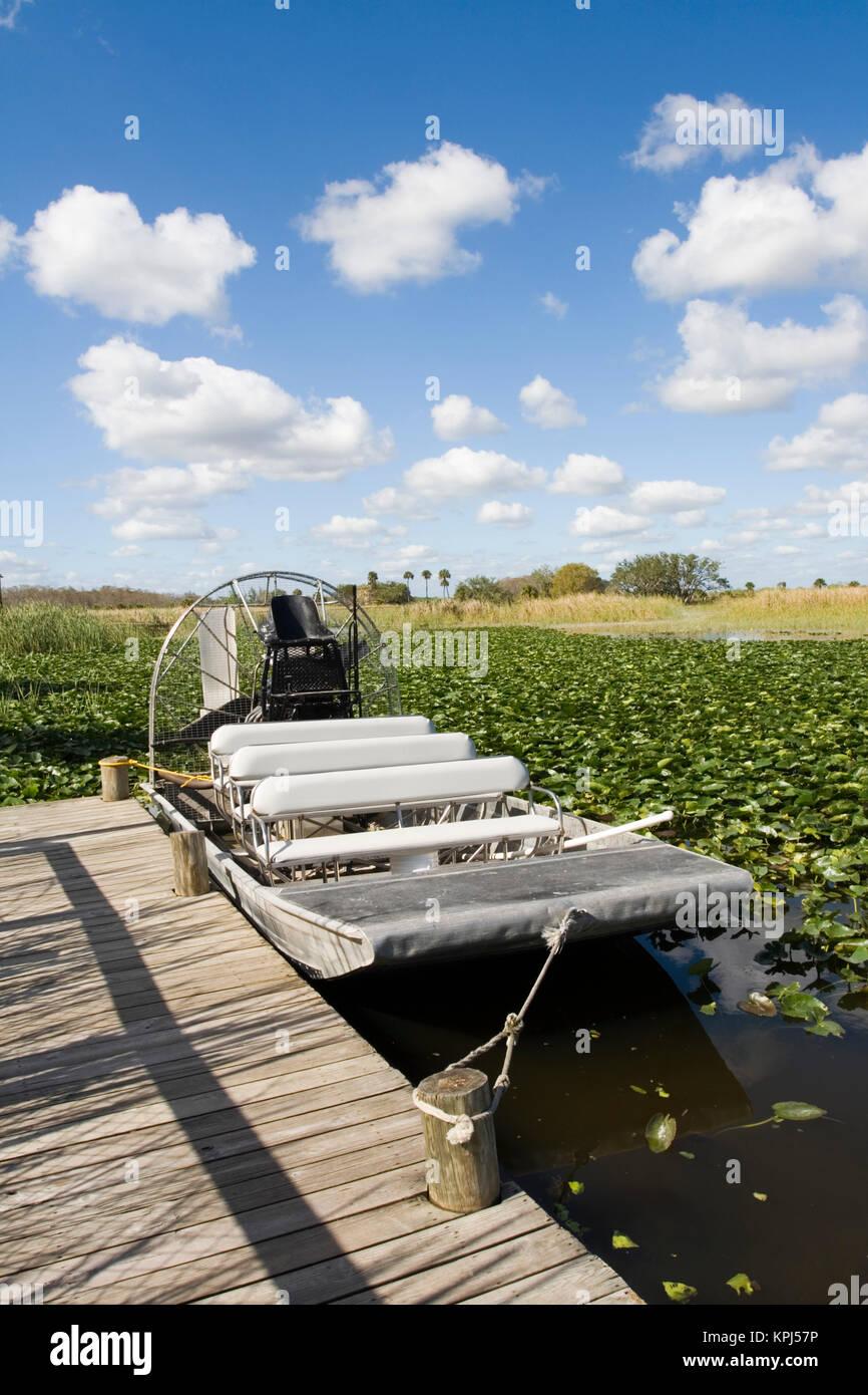 USA, Florida, Big Cypress Seminole Reservation: Billie Swamp Safari, Airboat - Stock Image