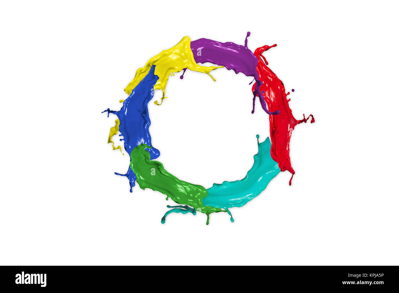 color circle - Stock Image