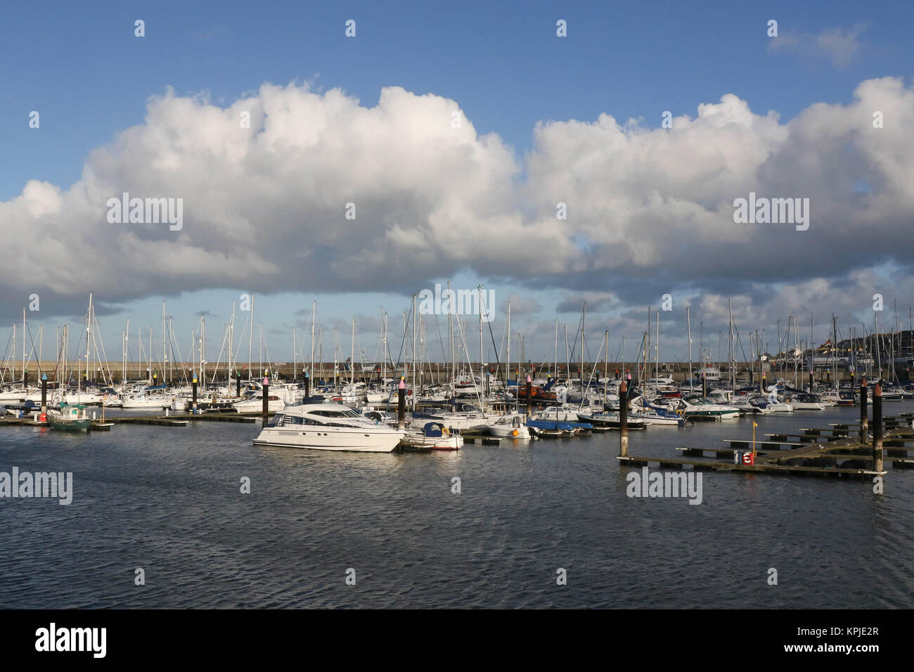 Bangor Marina, County Down, Northern, Ireland. 15th Dec, 2017. UK weather - a dry and at times sunny day across - Stock Image