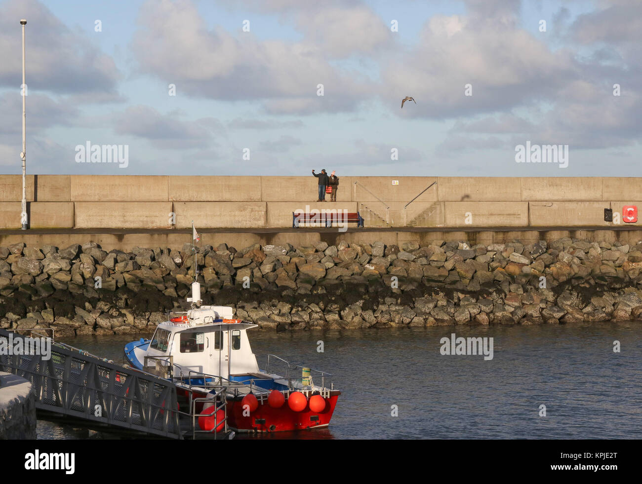 Bangor Marina, Bangor, County Down, Northern, Ireland. 15th Dec, 2017. UK weather - a dry and at times sunny day - Stock Image