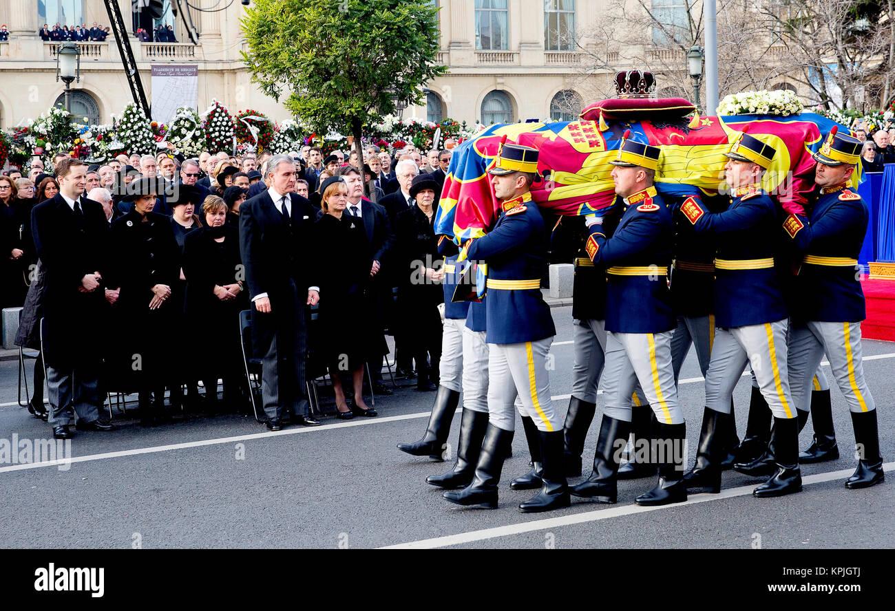 Crown Princess Margareta of Romania, Prince Radu of Romania, Princess Elena of Romania, Irina Walker, Princess Maria - Stock Image