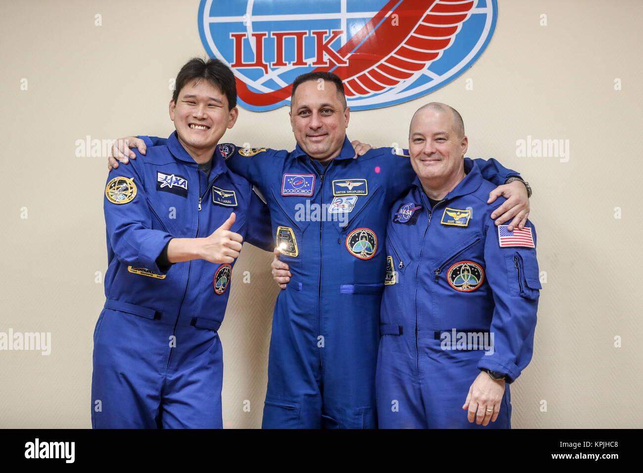 Baikonur, Kazakhstan. 16th Dec, 2017. ISS Expedition 54/55 prime crew members, Japanese astronaut Norishige Kanai Stock Photo