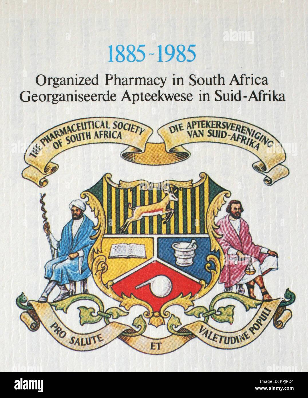 Restoration of Pilgrim's Rest 1985 postage stamp, Gauteng Province, South Africa. - Stock Image