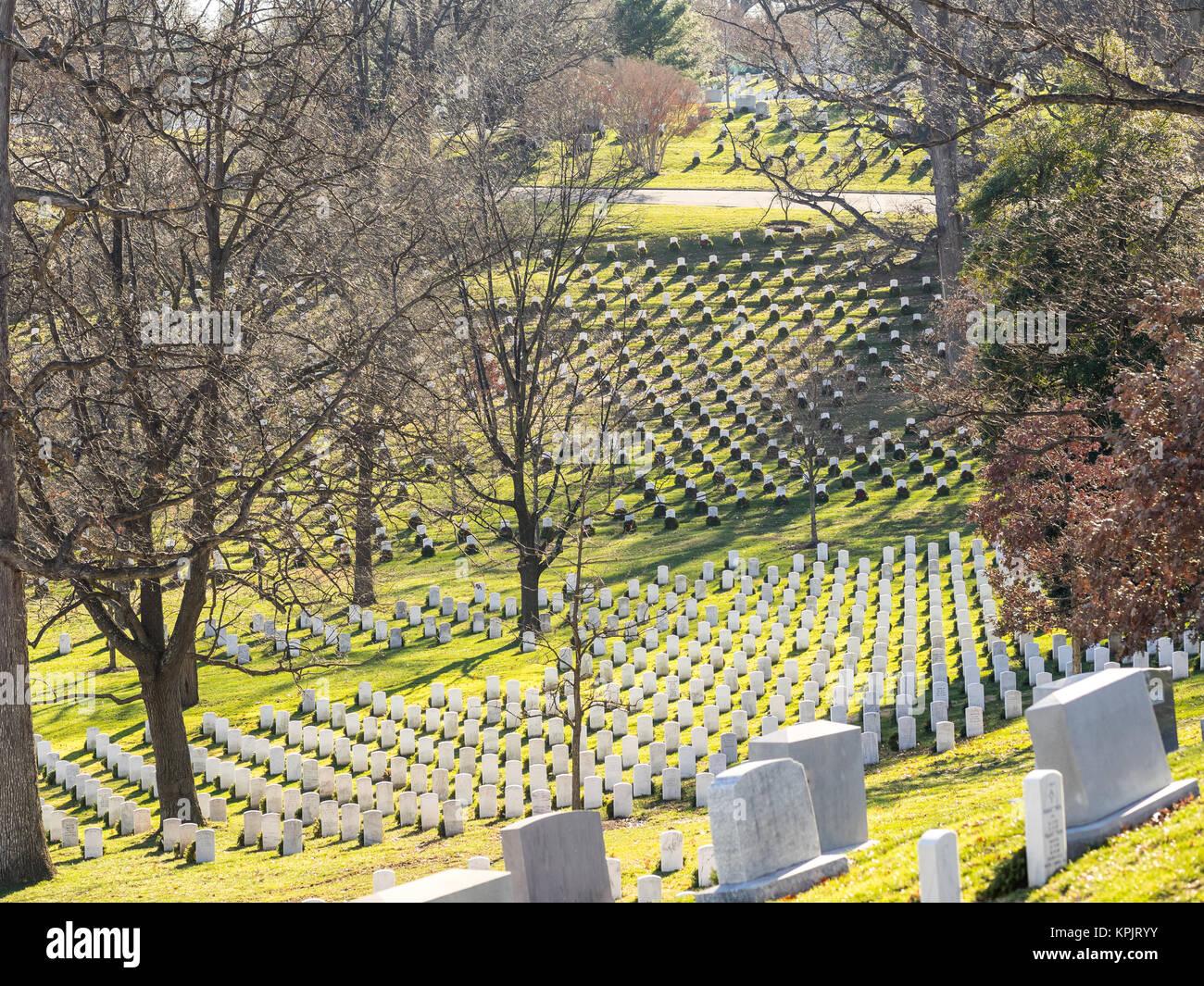 Christmas Time In Washington Dc.Washington Dc Usa December 26 2015 Gravestones On