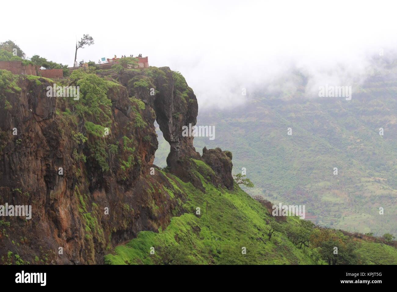 Elephant caves at mahabaleshwar hill station. Stock Photo