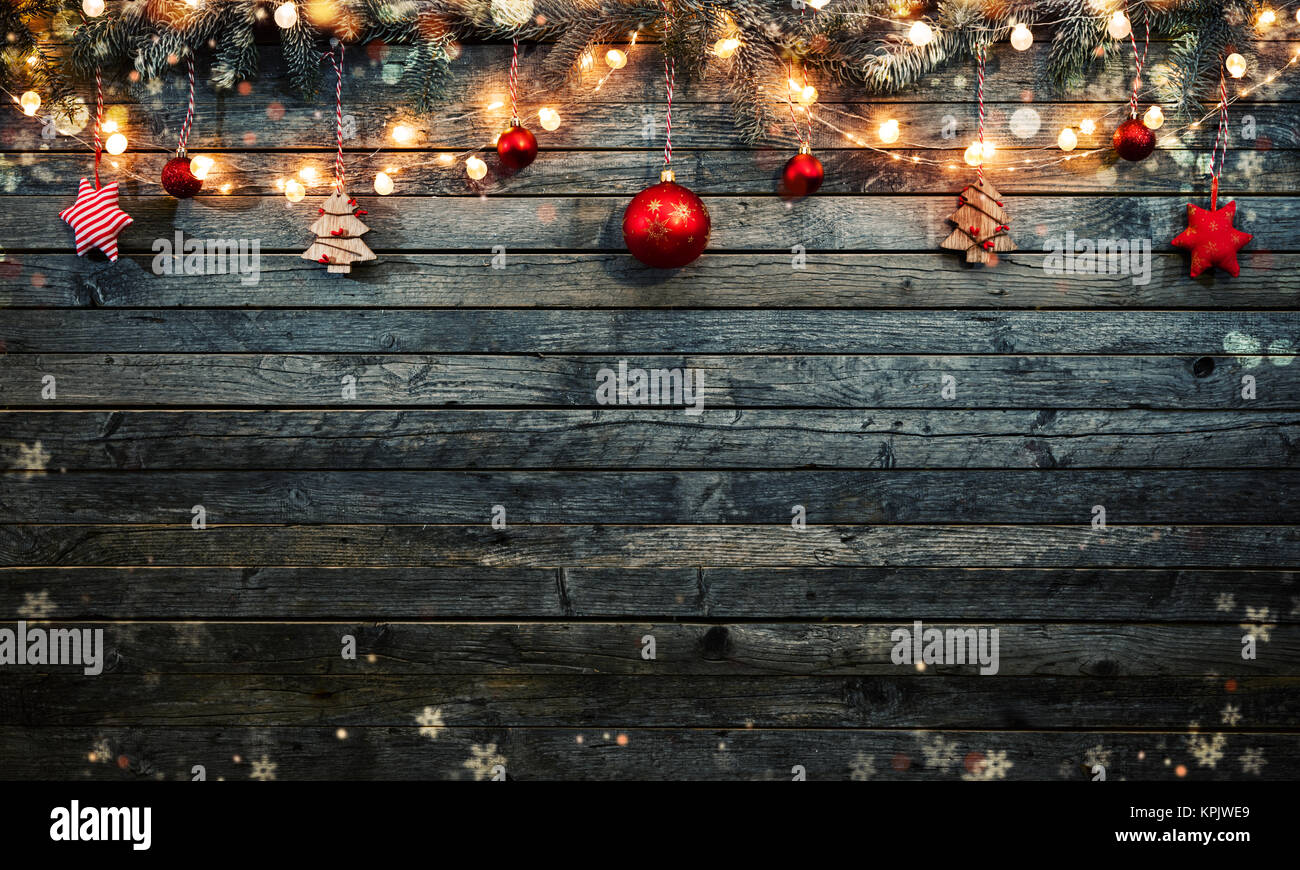 Free Christmas Background.Christmas Background With Wooden Decorations And Spot Lights