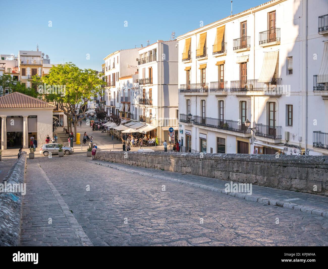 Ibiza, Spain - May 23, 2015. Entry to the Ibiza old town, called Dalt Vila. Stock Photo