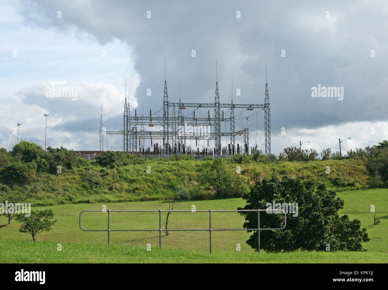 Power grid station, East London, Eastern Cape, South Africa. - Stock Image