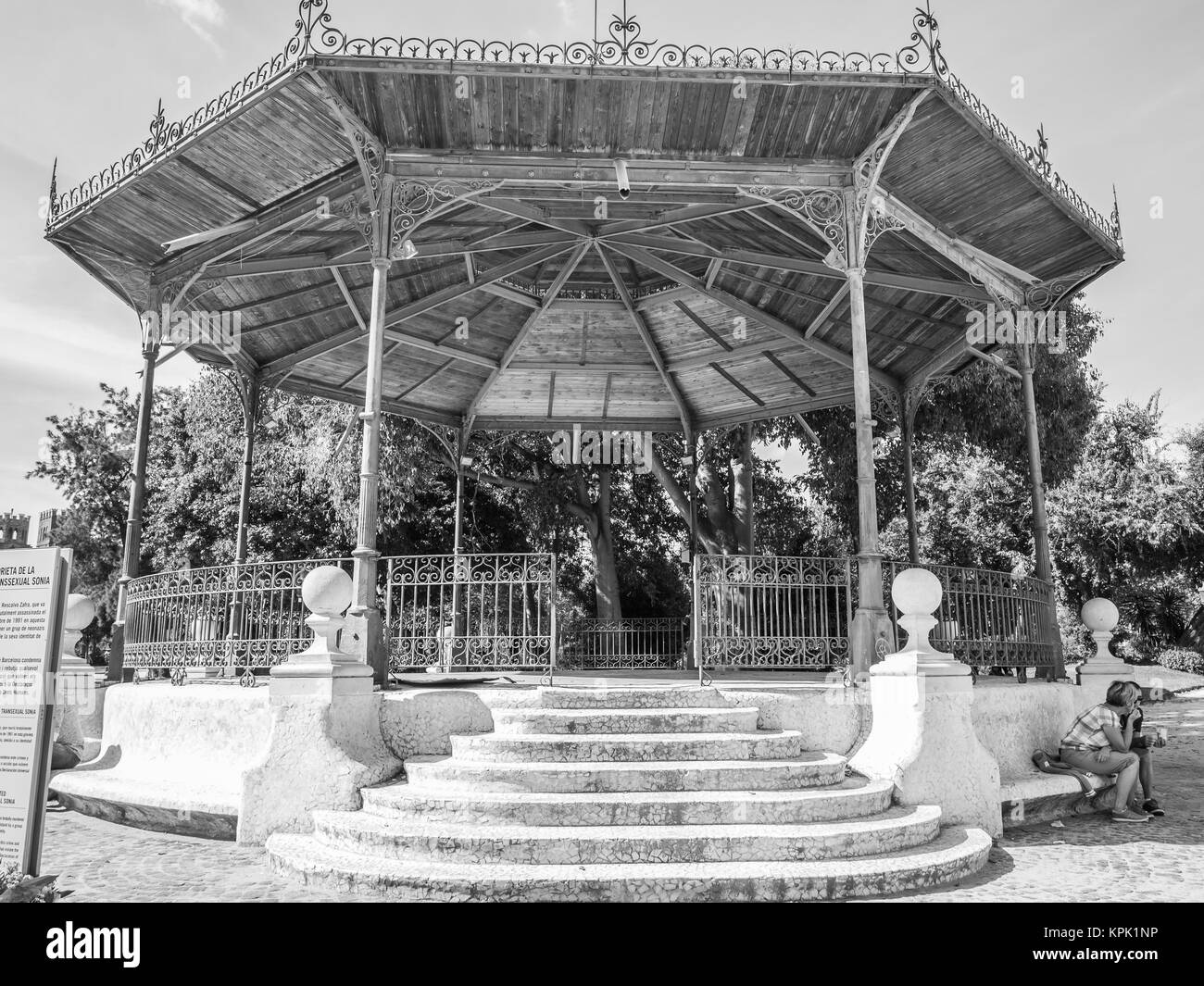 The bandstand where transgender Sonia was killed in 1991. - Stock Image