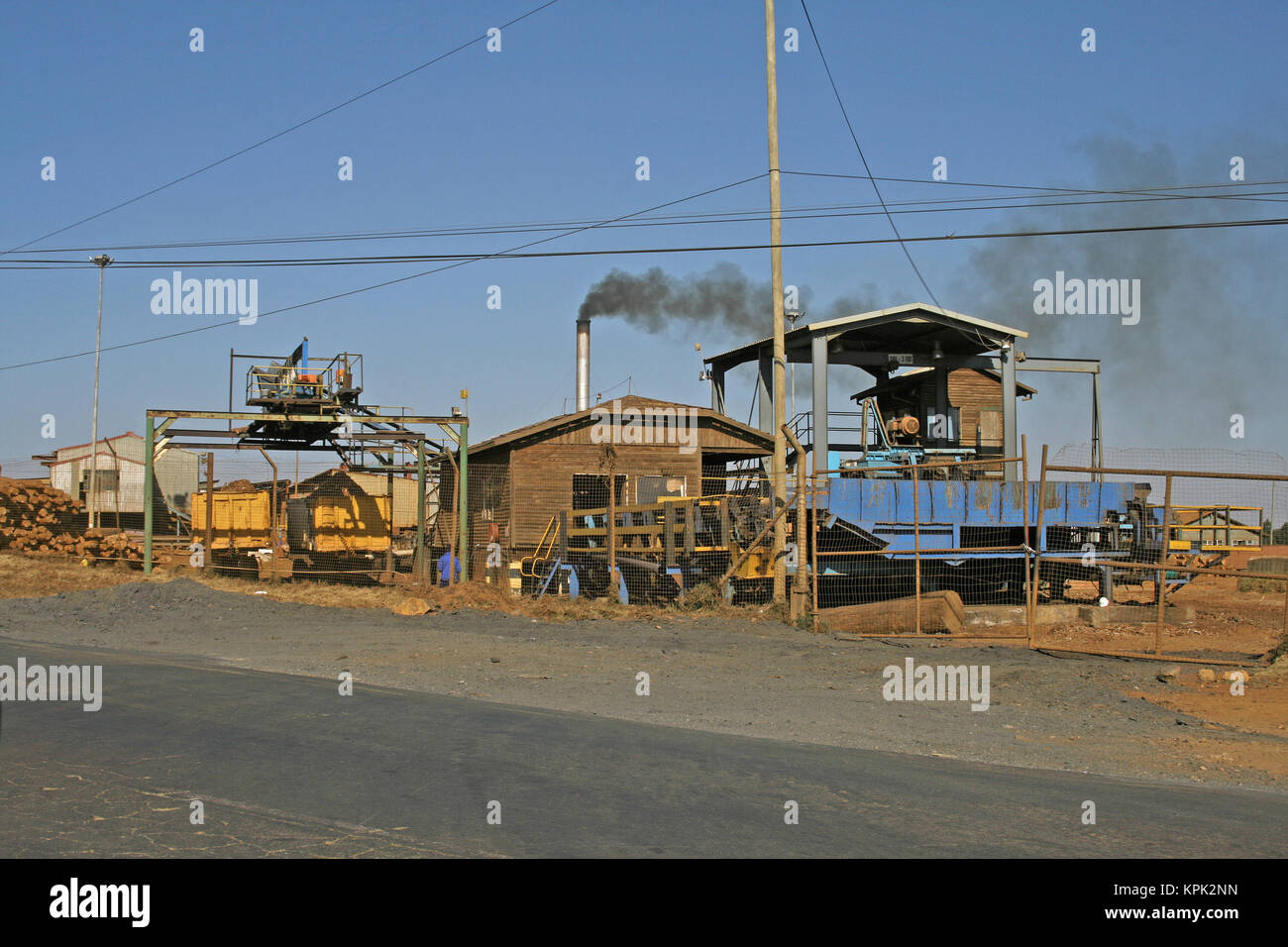Timber factory, Kingdom of Swaziland. - Stock Image