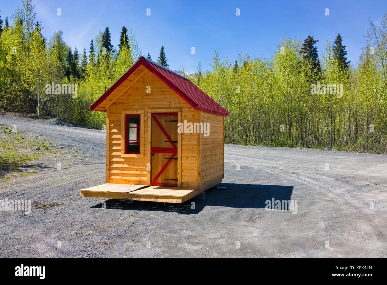 Tiny House ready for transport, near Kenai; Alaska, United States