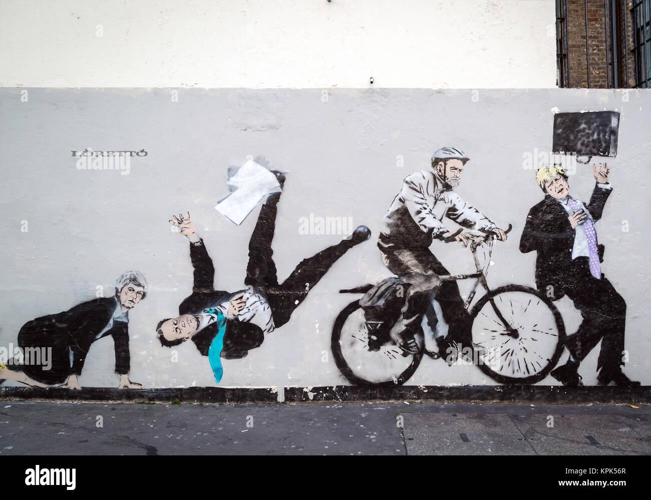 British Political Satire Urban Artwork By Loretto A London