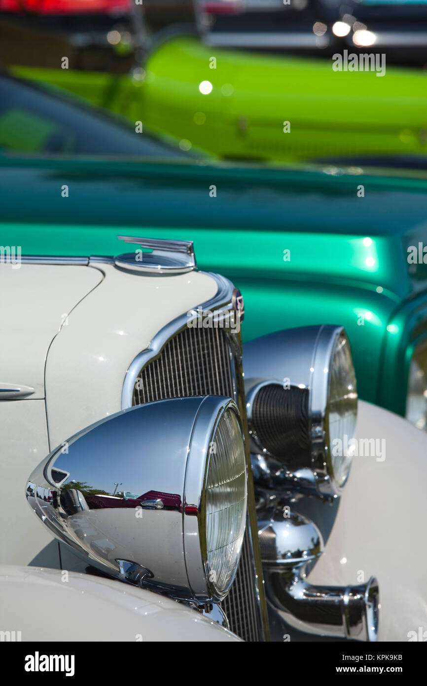 USA, Massachusetts, Gloucester. Antique car show Stock Photo ...