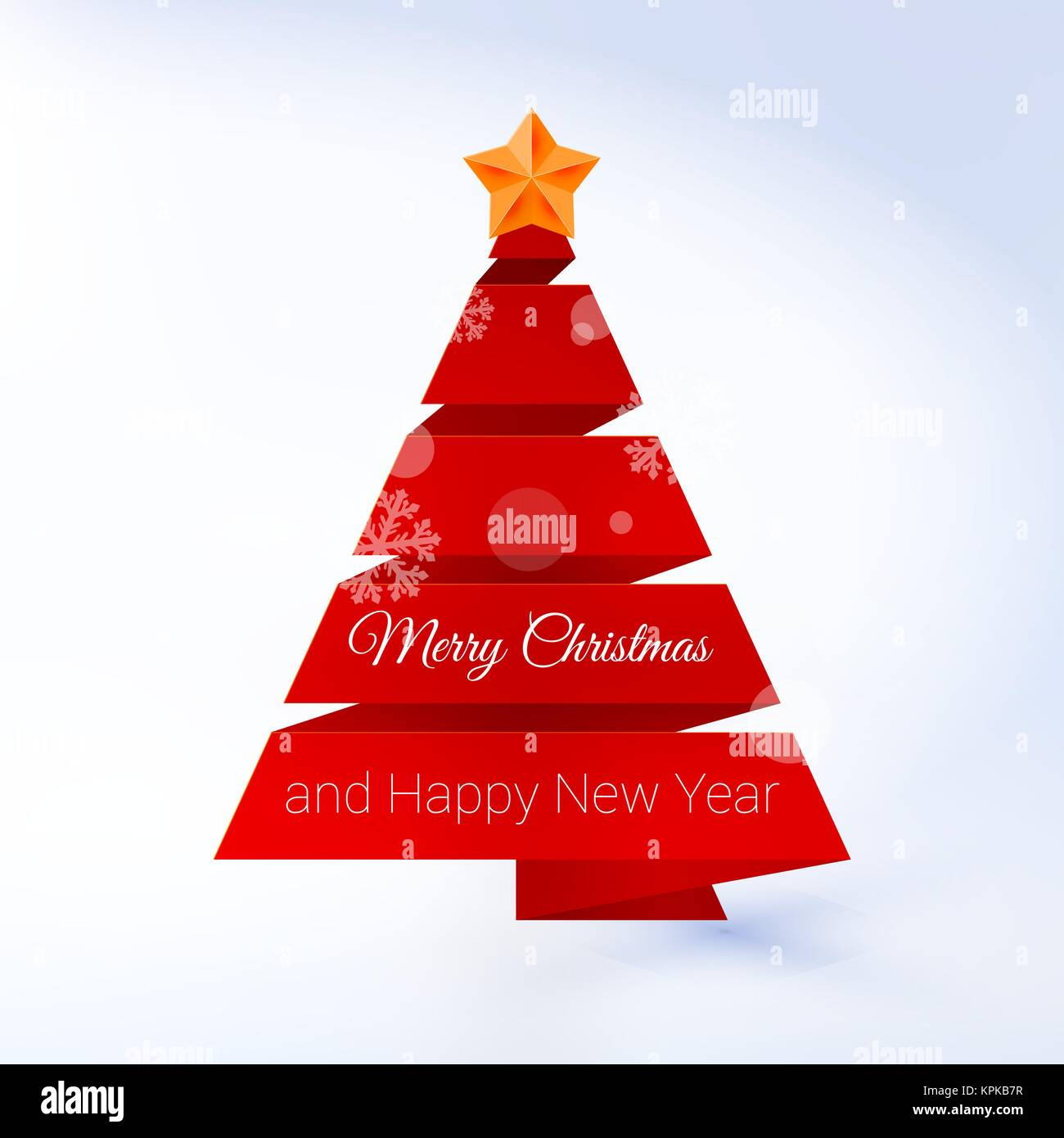 Vector Christmas Tree.Vector Christmas Tree Made Of Red Ribbon On A Lite