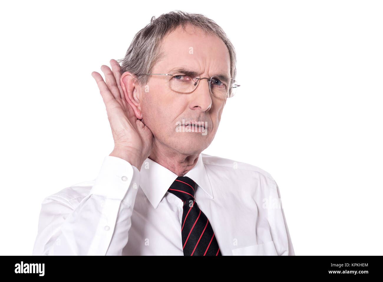 Can you speak out loudly! - Stock Image
