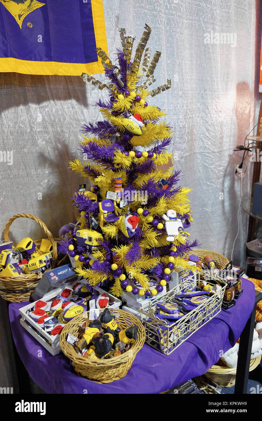 Louisiana State University, LSU, specific Christmas tree Stock Photo ...