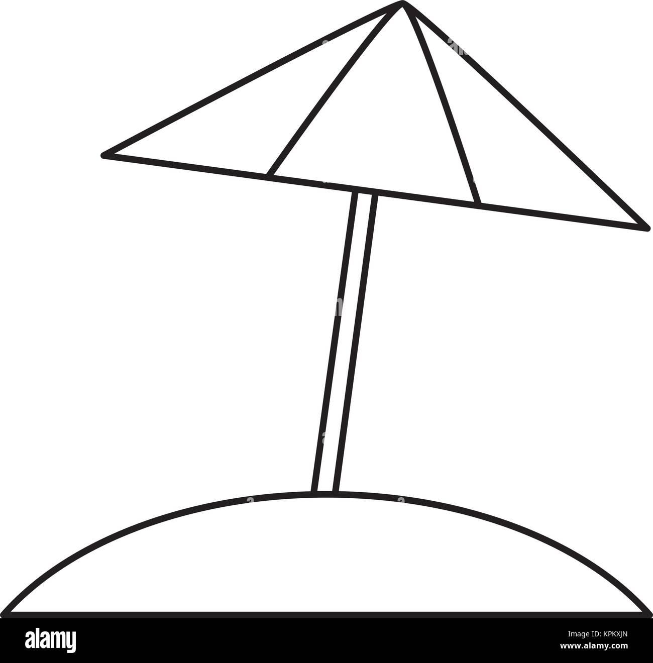 Isolated umbrella design stock image