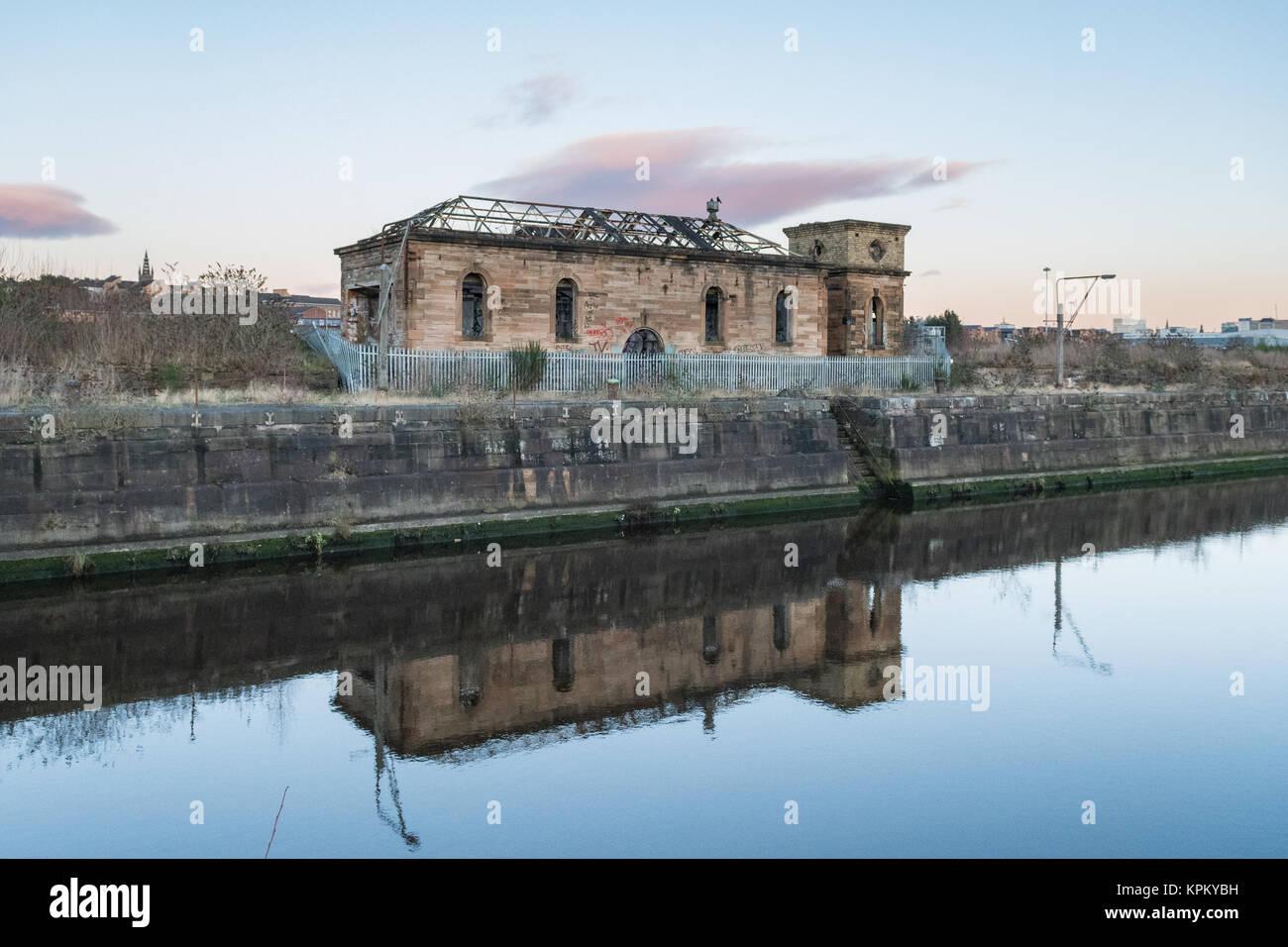The Pump House, Govan Graving Docks, Glasgow, Scotland, UK - Stock Image