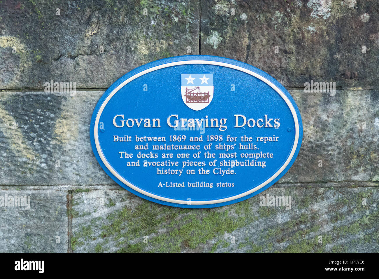 Govan Graving Docks, Glasgow, Scotland, UK - Stock Image