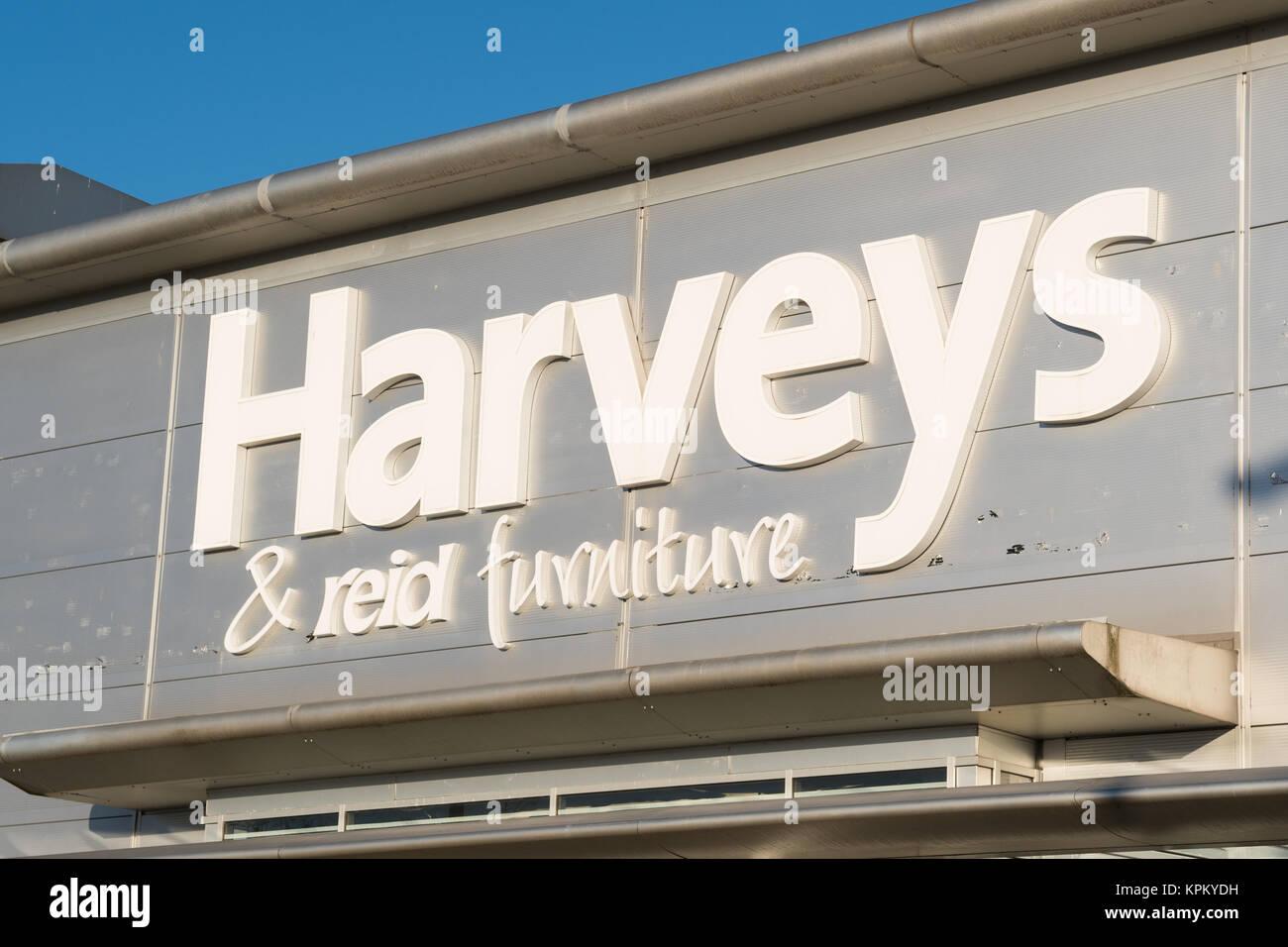 Harveys & Reid furniture shop, Braehead, Glasgow, Scotland, UK - Stock Image