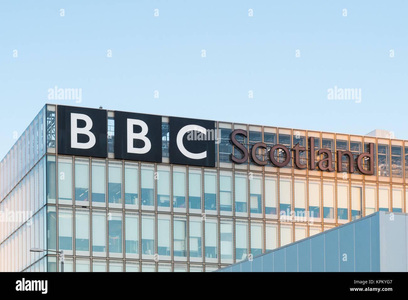 BBC Scotland headquarters Glasgow - Stock Image