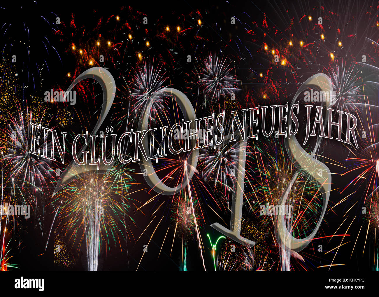 ein glckliches neues jahr fireworks happy new year in german others in german see kpkypd and kpkypa also in english and spanish