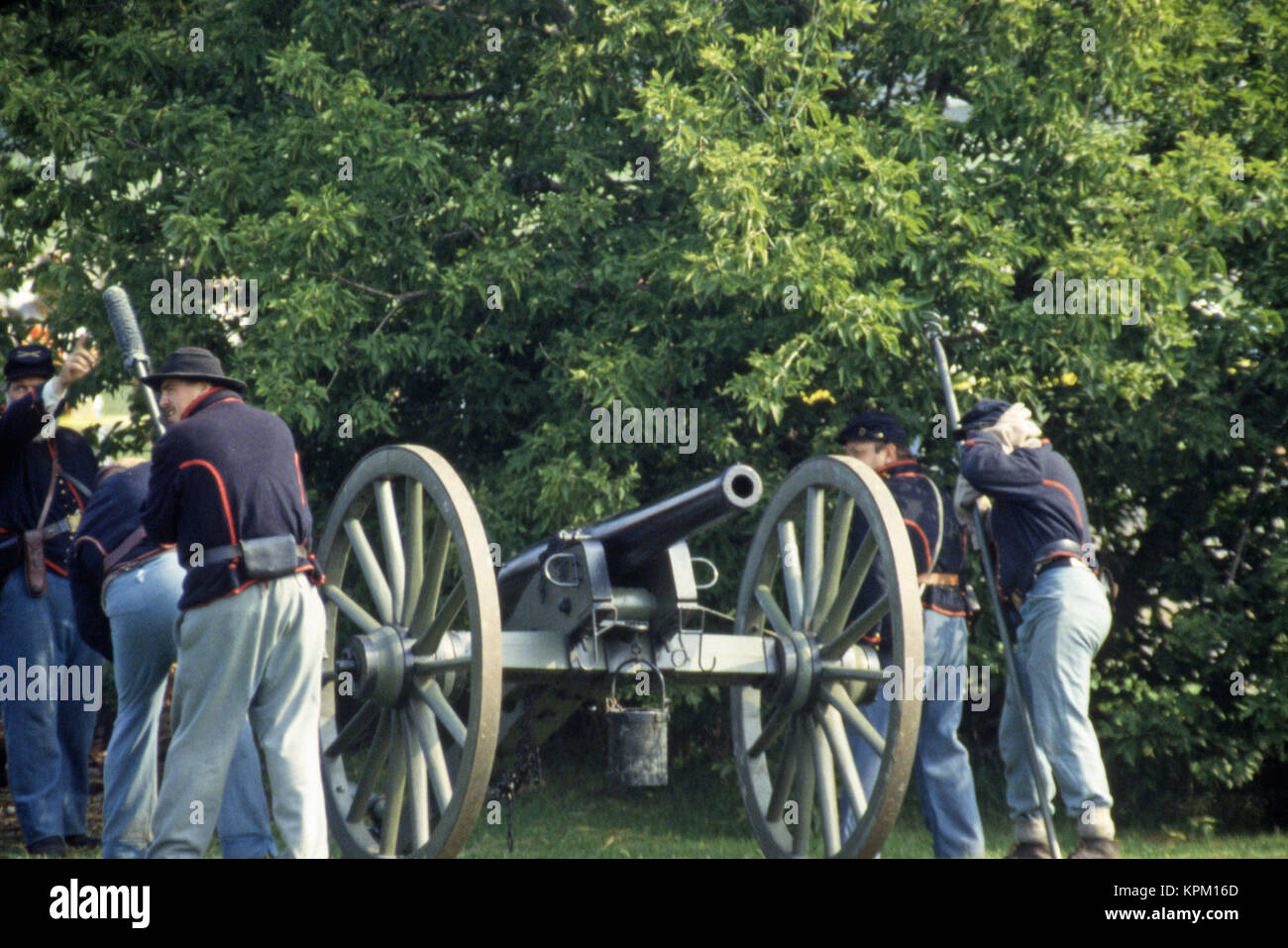 Civil War Muster Cascades - Stock Image