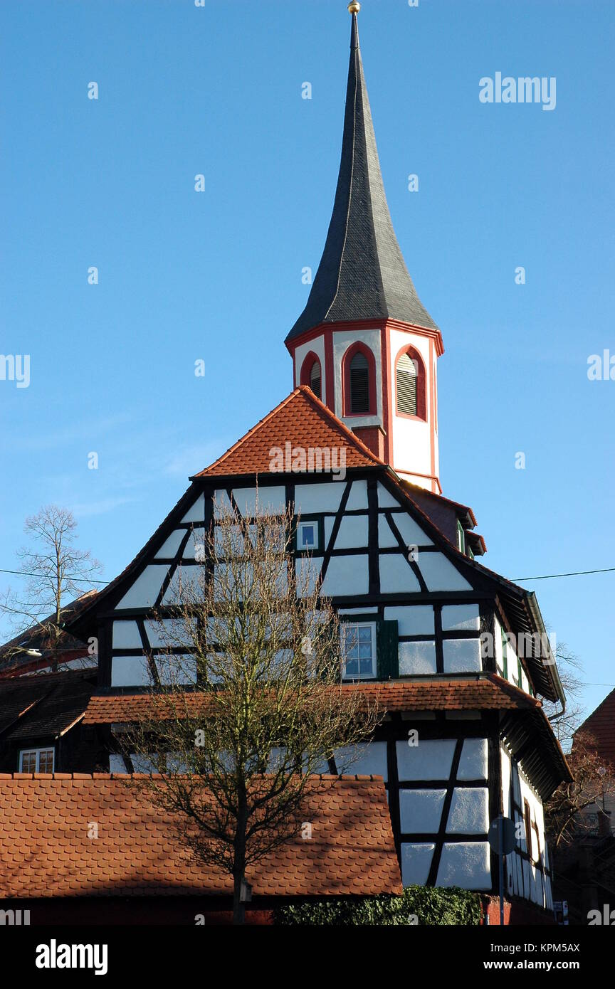 old center of knielingen Stock Photo
