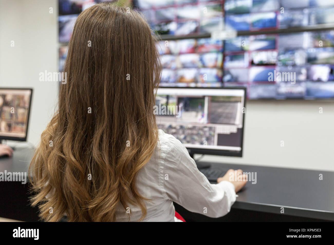 Control room - Stock Image