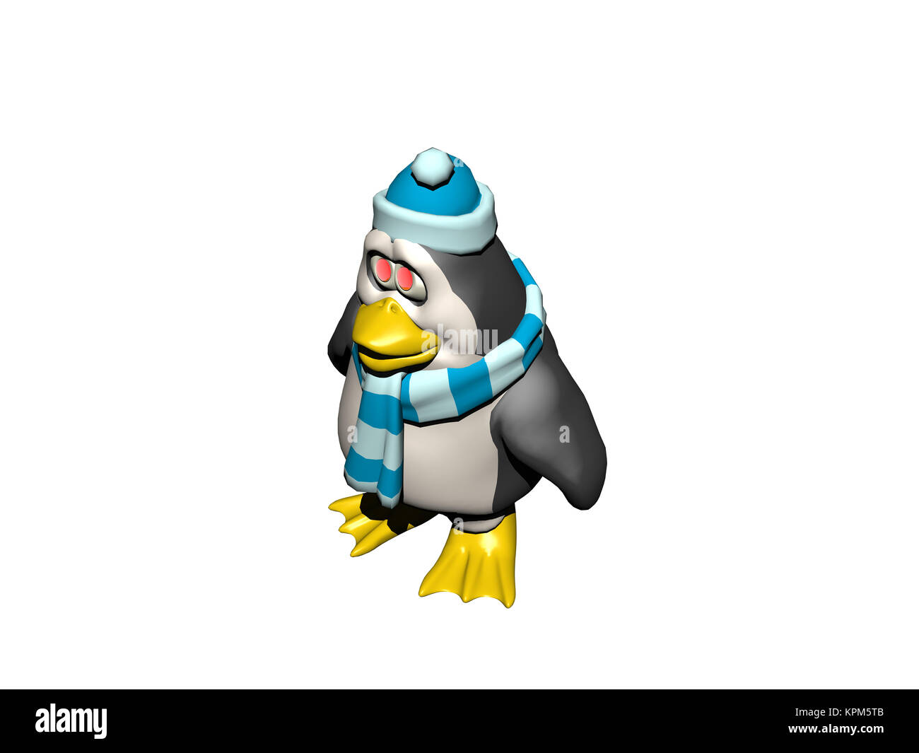comic penguin isolated - Stock Image