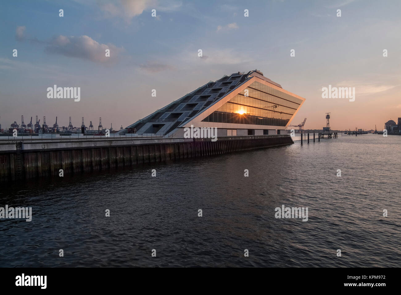 Hamburg, one of the most beautiful and most popular tourist destinations in the world. Docklands, office building - Stock Image