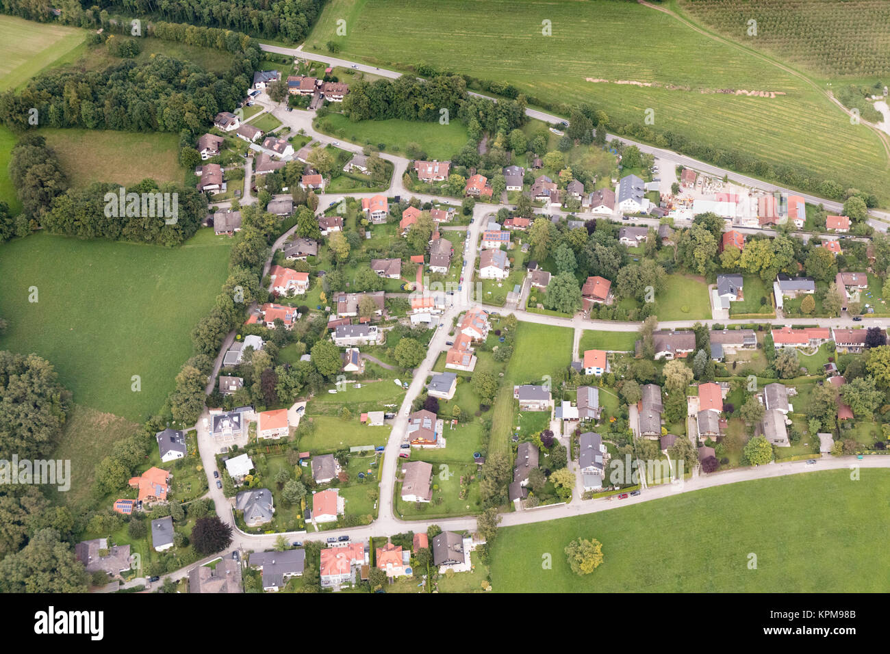 aerial view of Herrsching am Ammersee, Munich, Bavaria, Germany - Stock Image