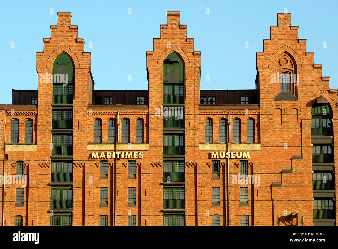 Hamburg, one of the most beautiful and most popular tourist destinations in the world. International Maritime museum - Stock Image