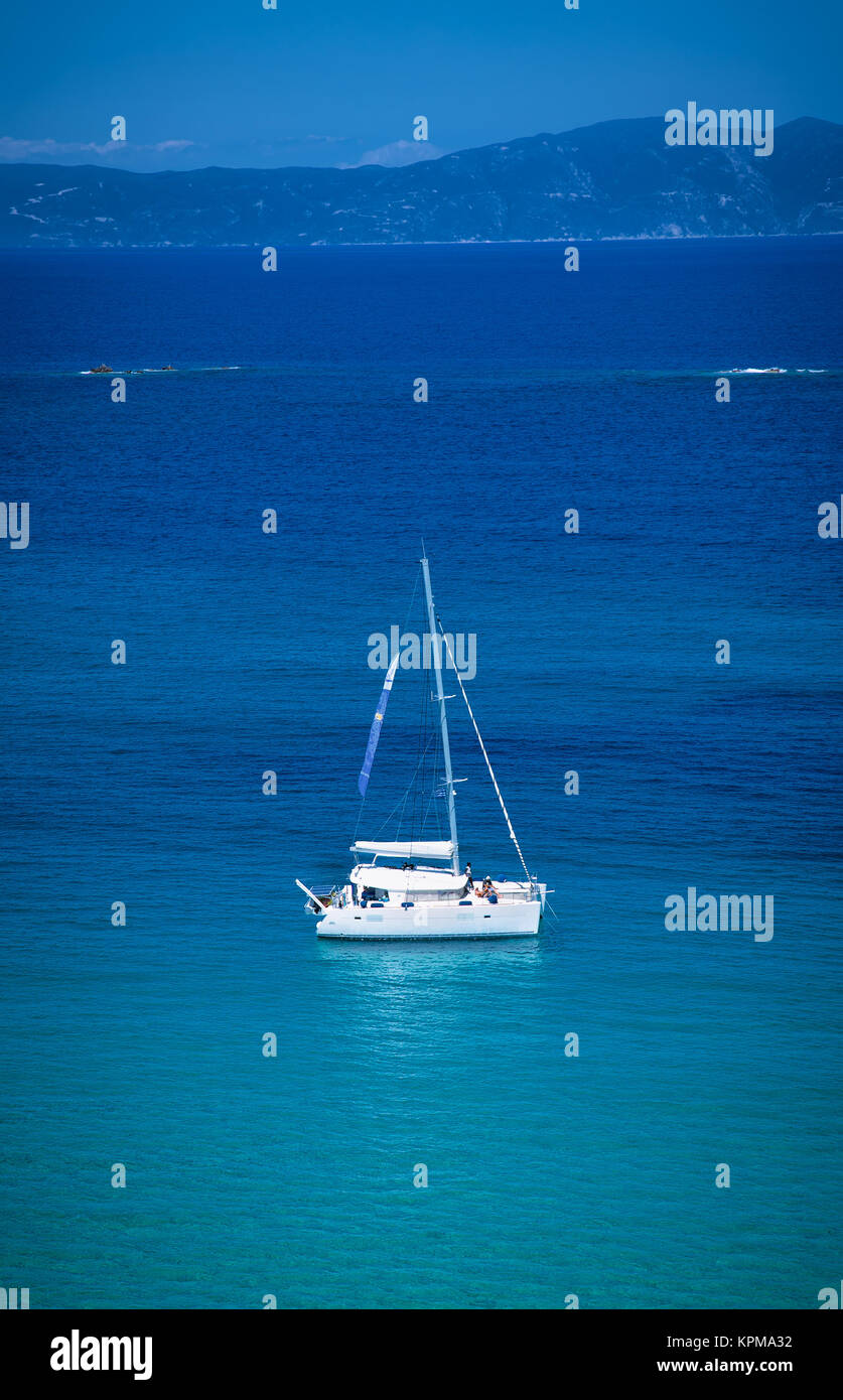 Sailing boat in the sea. Greece. - Stock Image