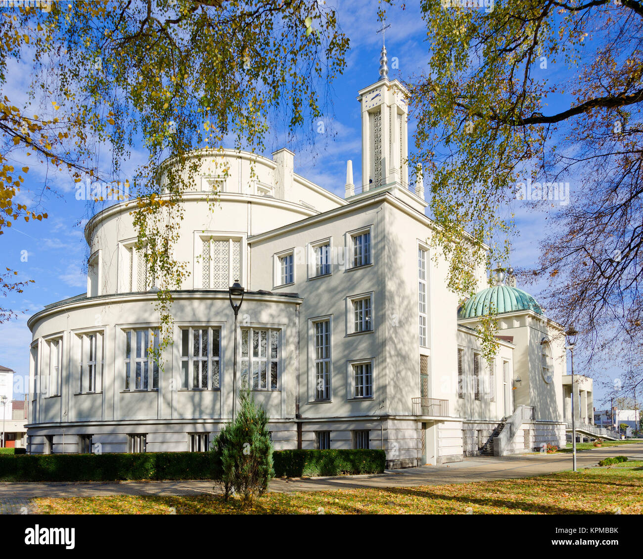 Basilica of St Mary Immaculate (Shrine of St Maximilian Kolbe) in Niepokalanów / Teresin nearby Sochaczew. - Stock Image
