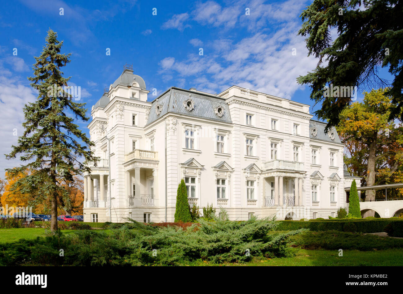 Epstein's palace in Teresin (built 1890-1900) nearby Sochaczew. Masovian voivodship. Poland - Stock Image