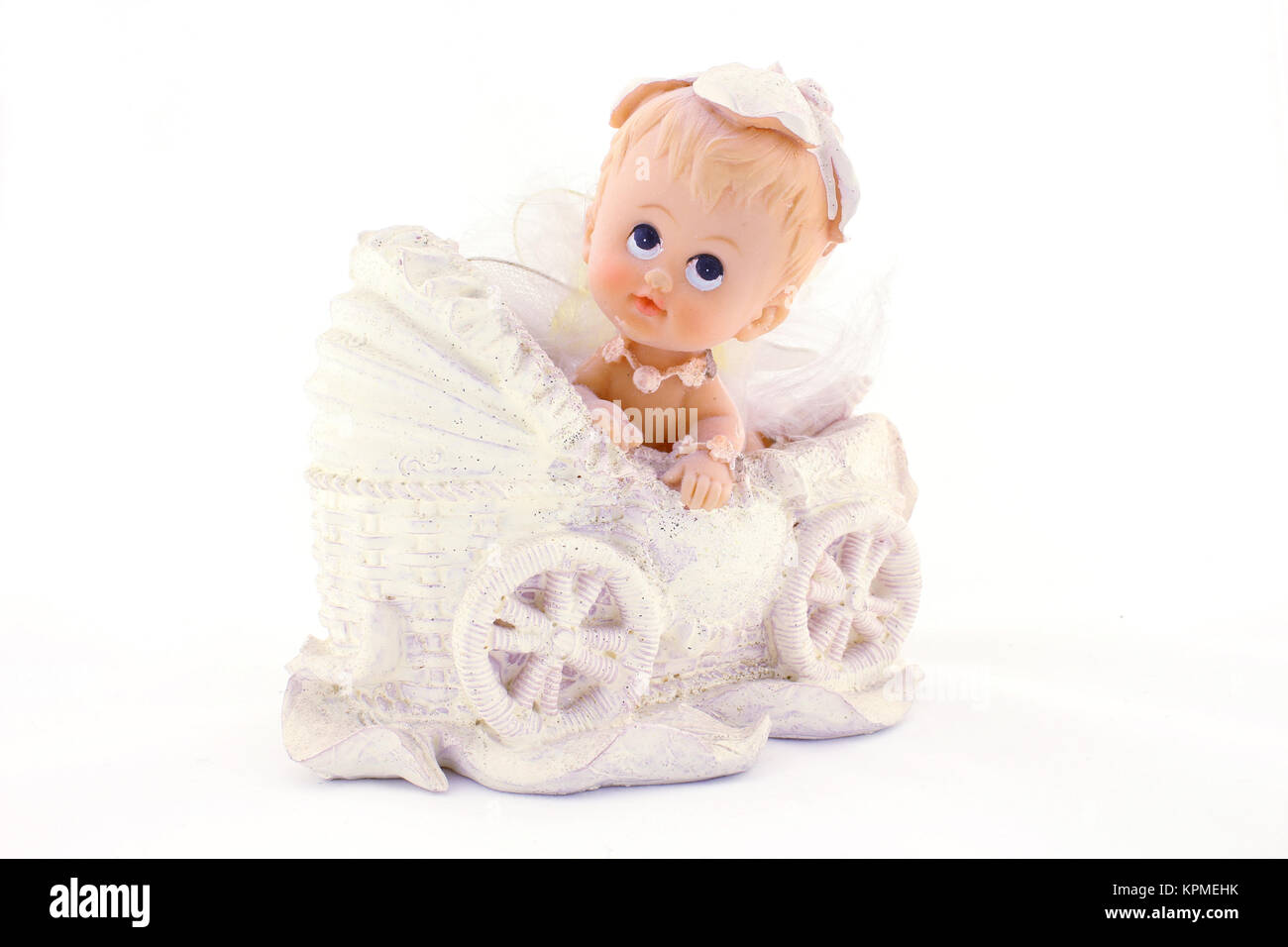Baby in carriage - Stock Image