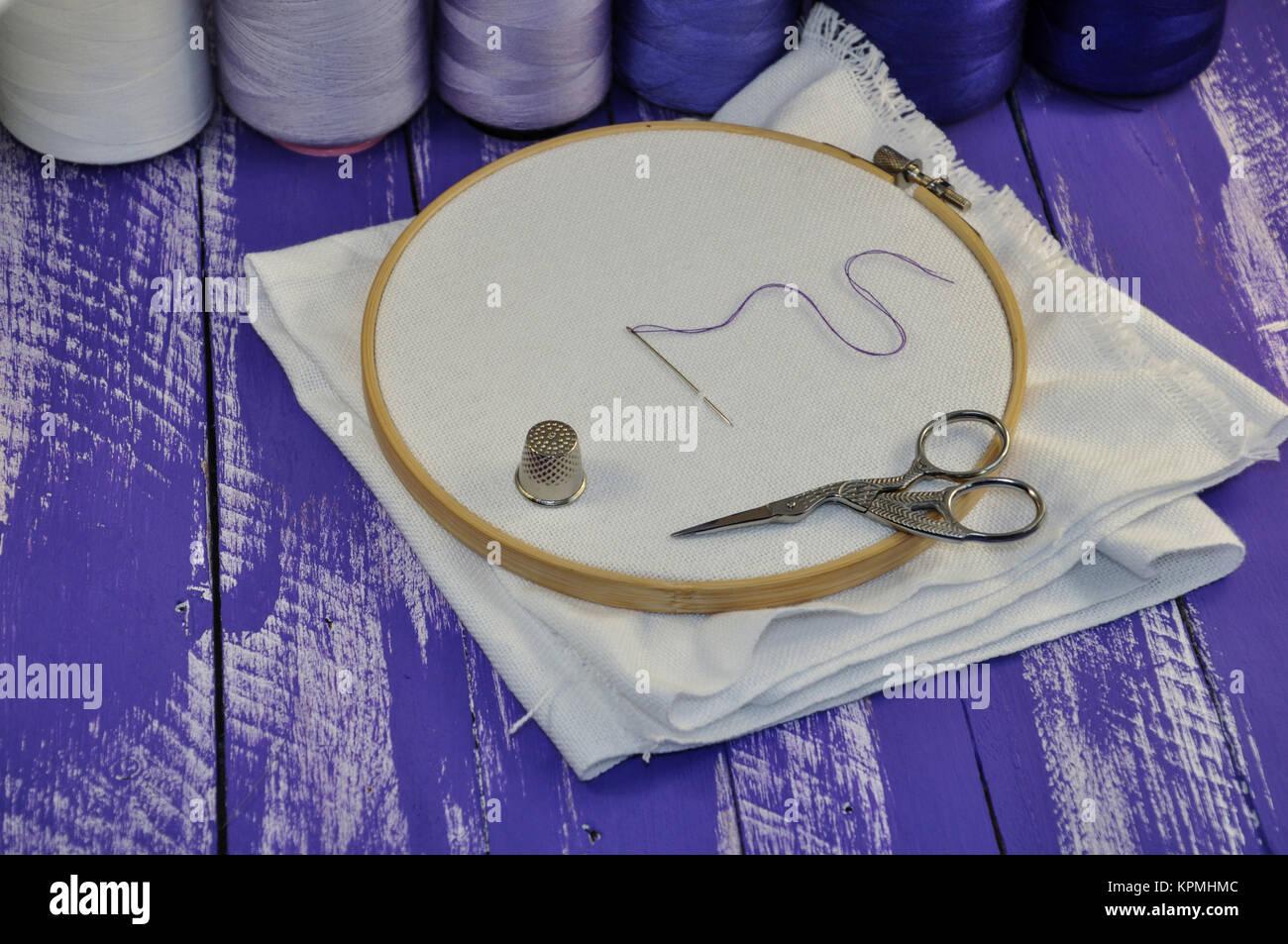 Set of objects for needlework - Stock Image