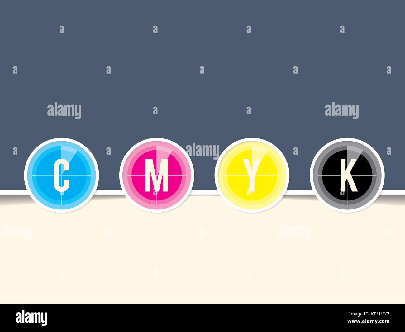 Cmyk background with countdown design - Stock Image