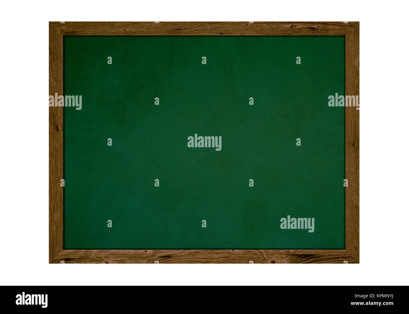 Alte isolierte Schultafel mit Holzrahmen und Textfreiraum Stock ...
